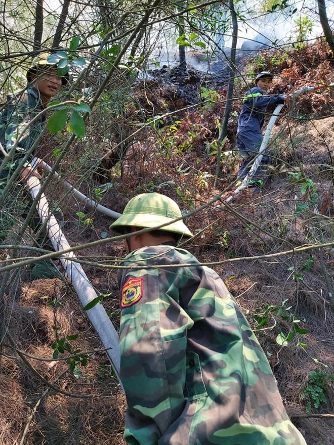 Cháy rừng tại Nghệ An nghi do đốt vàng mã cúng rằm tháng 7 2