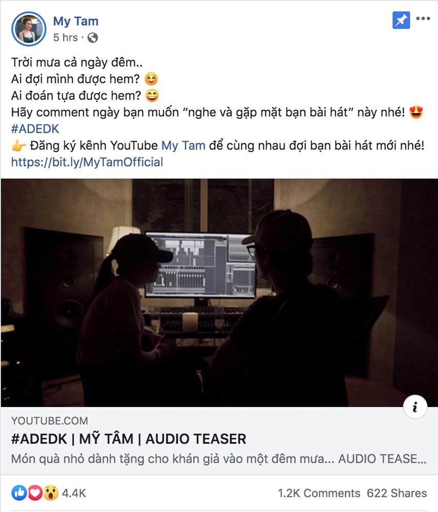 Mỹ Tâm tung teaser bài hát mới, sẵn sàng công phá các kỷ lục 1
