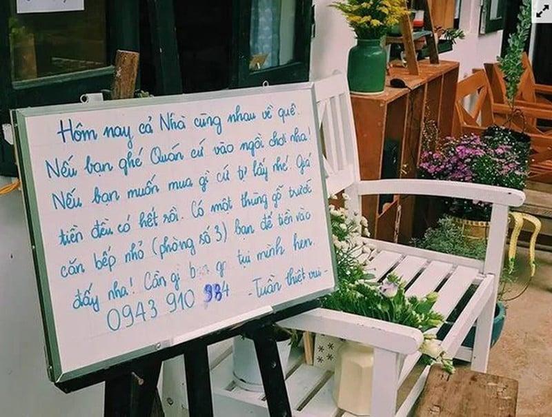 Quán trà bị trộm tiền ở Đà Lạt không lắp camera gây chú ý với mô hình kinh doanh đề cao sự tự giác 3