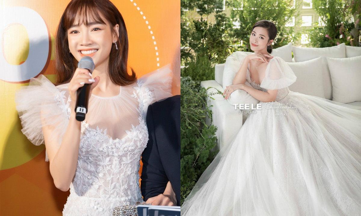 Đông Nhi bị fan soi ra váy cưới 'đụng hàng' với Nhã Phương và Hari Won 6
