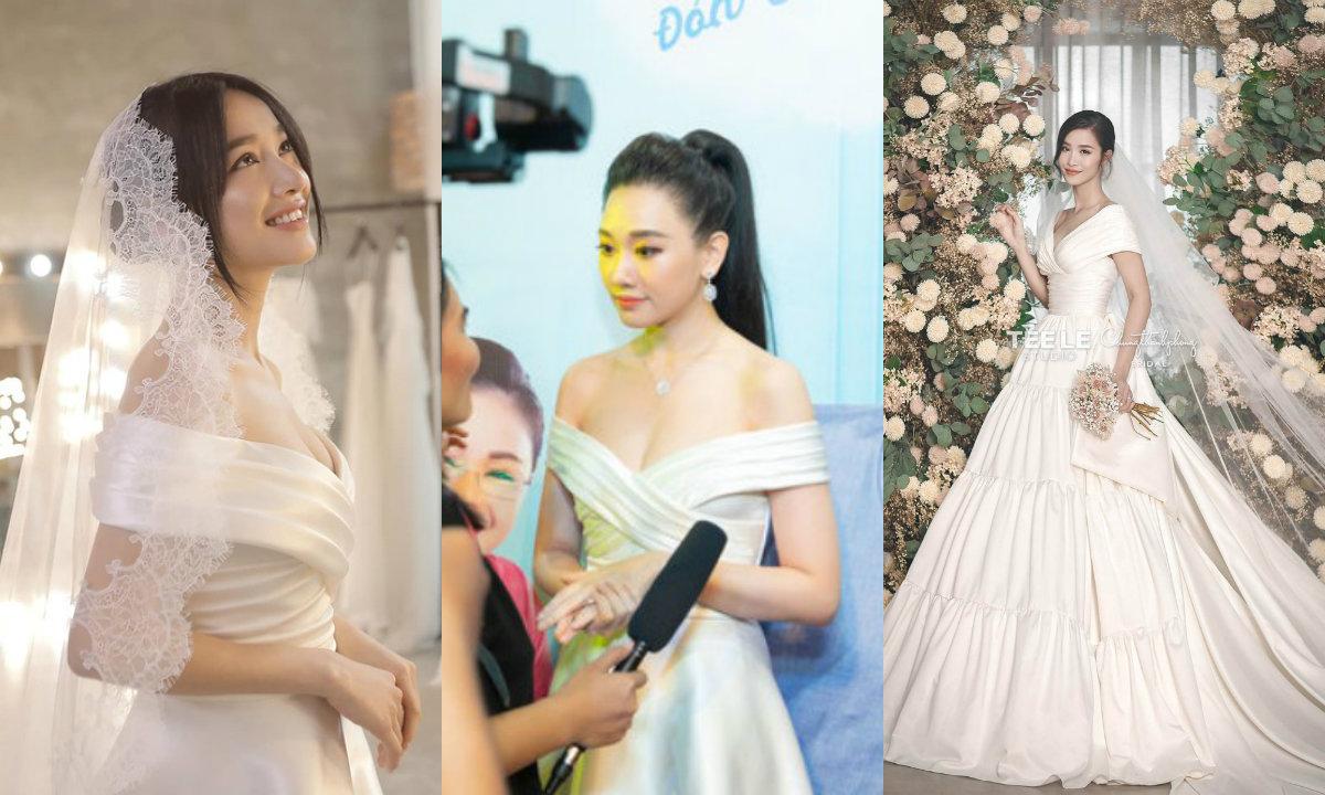 Đông Nhi bị fan soi ra váy cưới 'đụng hàng' với Nhã Phương và Hari Won 5