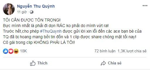 Động thái mới nhất của Thu Quỳnh sau nghi án lộ clip nóng 2