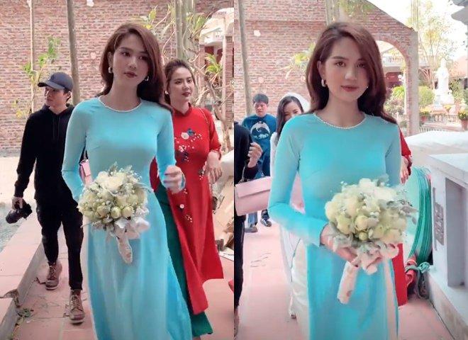 Ngọc Trinh không cần hở bạo, diện áo dài cũng khiến cả đám cưới phải ngoái nhìn 1
