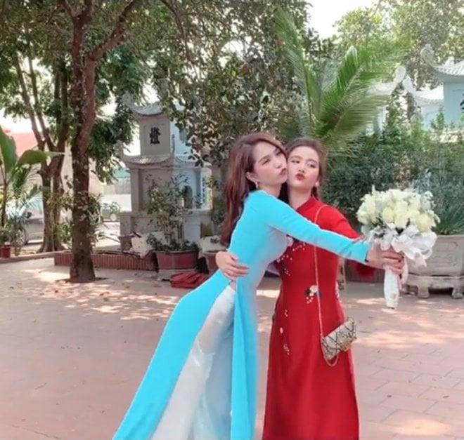 Ngọc Trinh không cần hở bạo, diện áo dài cũng khiến cả đám cưới phải ngoái nhìn 3