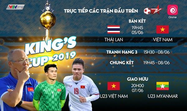 Những kênh truyền hình trực tiếp King's Cup 2019 2