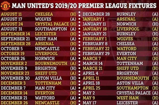 Trọn bộ lịch thi đấu Ngoại hạng Anh 2019/20: Đại chiến M.U - Chelsea ngay vòng đầu tiên 4