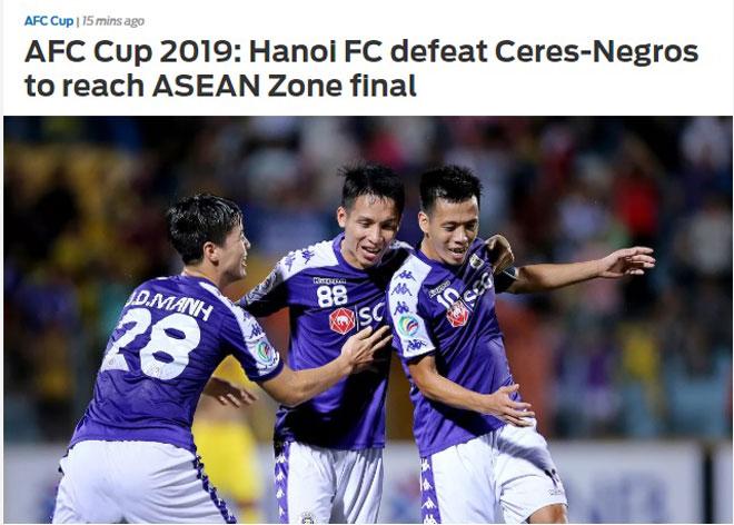 Báo châu Á ca ngợi hết lời về chiến tích của Hà Nội FC tại AFC Cup  2