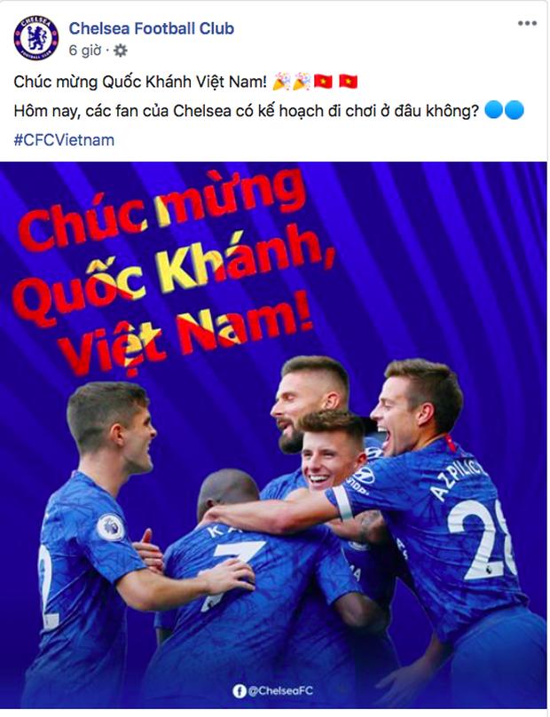 Các CLB lớn của châu Âu gửi lời chúc mừng lễ Quốc khánh Việt Nam 1