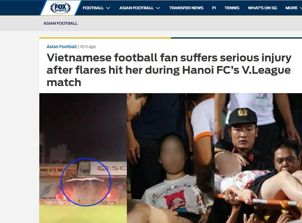 Truyền thông quốc tế bàng hoàng vì vụ CĐV Nam Định bắn pháo sáng khiến fan nữ nhập viện 2