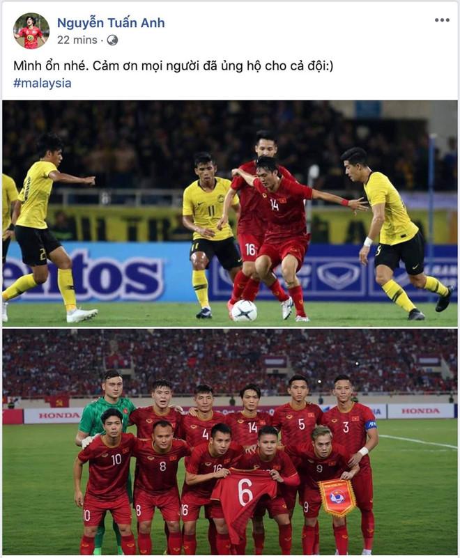 Tuấn Anh cập nhật tình hình chấn thương sau trận đấu gặp Malaysia  2