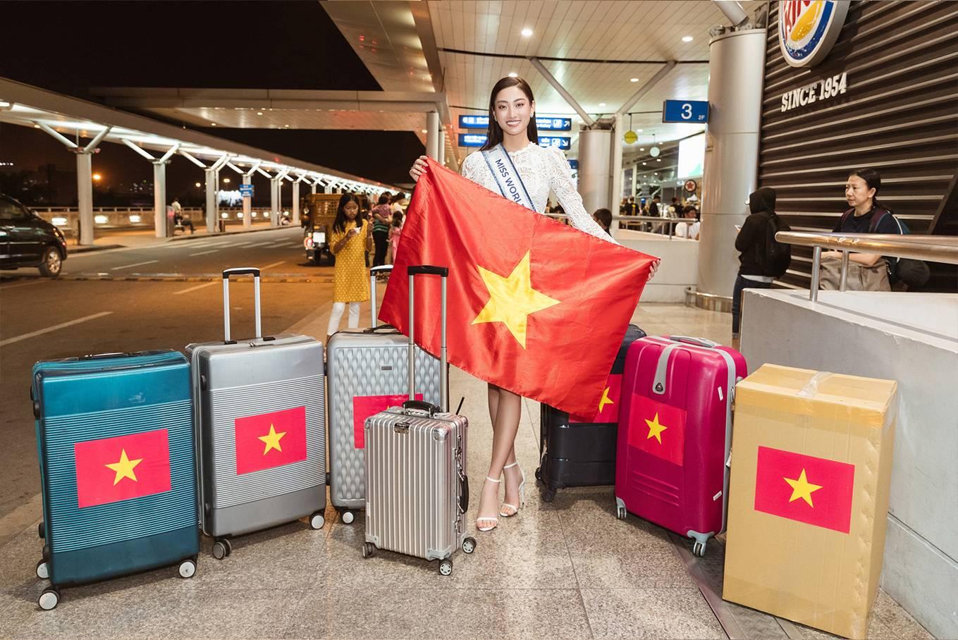 Hoa hậu Lương Thùy Linh lên đường tham dự Hoa hậu Thế giới 2019 1