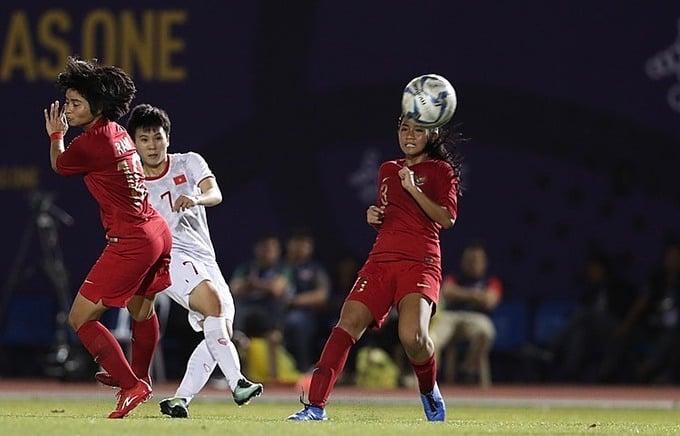 Hủy diệt đội nữ Indonesia, ĐT nữ Việt Nam lọt vào bán kết SEA Games 30  1