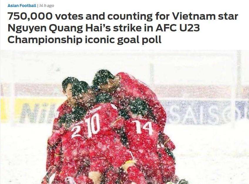 Báo châu Á ngả mũ kính phục cộng đồng mạng Việt Nam trong cuộc bầu chọn cho Quang Hải  3