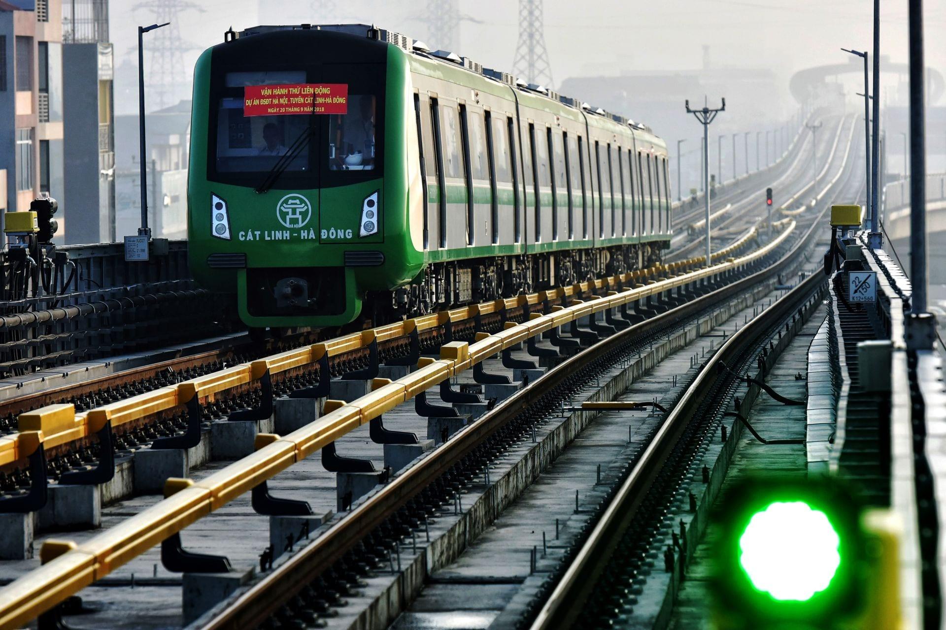 Tàu đường sắt Cát Linh - Hà Đông được cấp đăng kiểm tạm thời để chạy thử  1