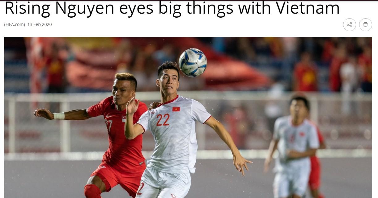 Trang chủ FIFA đưa bài viết về Tiến Linh, ngưỡng mộ giấc mơ dự World Cup của Việt Nam  1