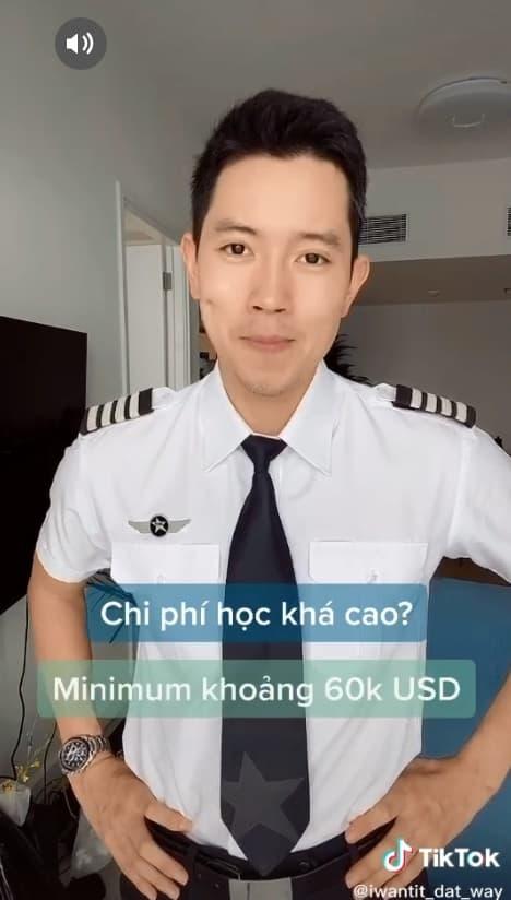 'Cơ trưởng đẹp trai nhất Việt Nam' hé lộ phí học tập và thu nhập khủng của nghề phi công 6