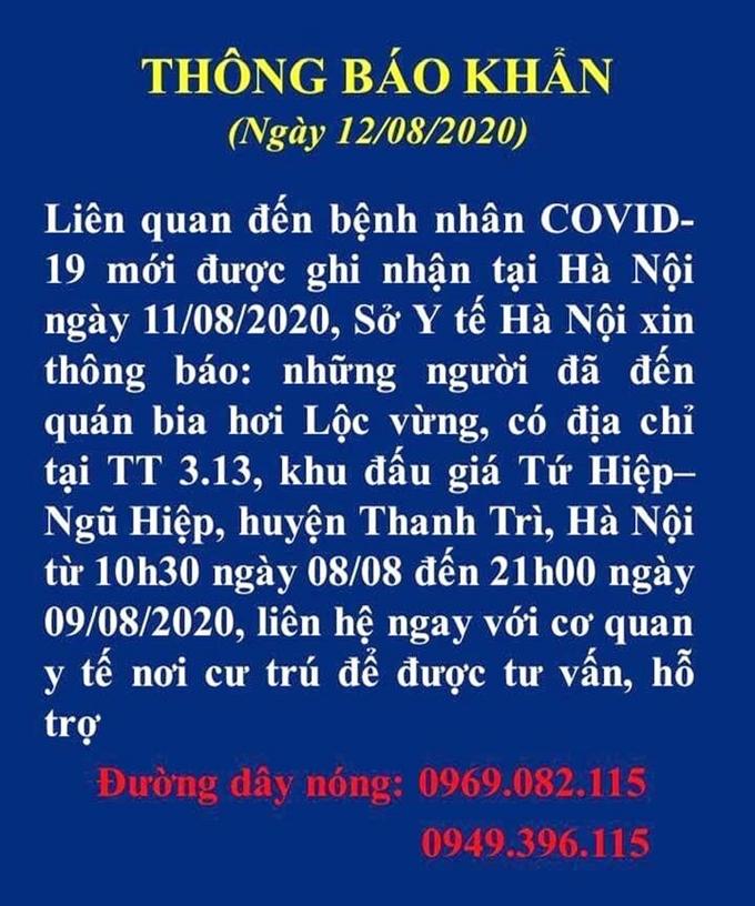 Ca nhiễm COVID-19 tại Hà Nội không có yếu tố Đà Nẵng, chưa tìm được nguồn lây bệnh 4
