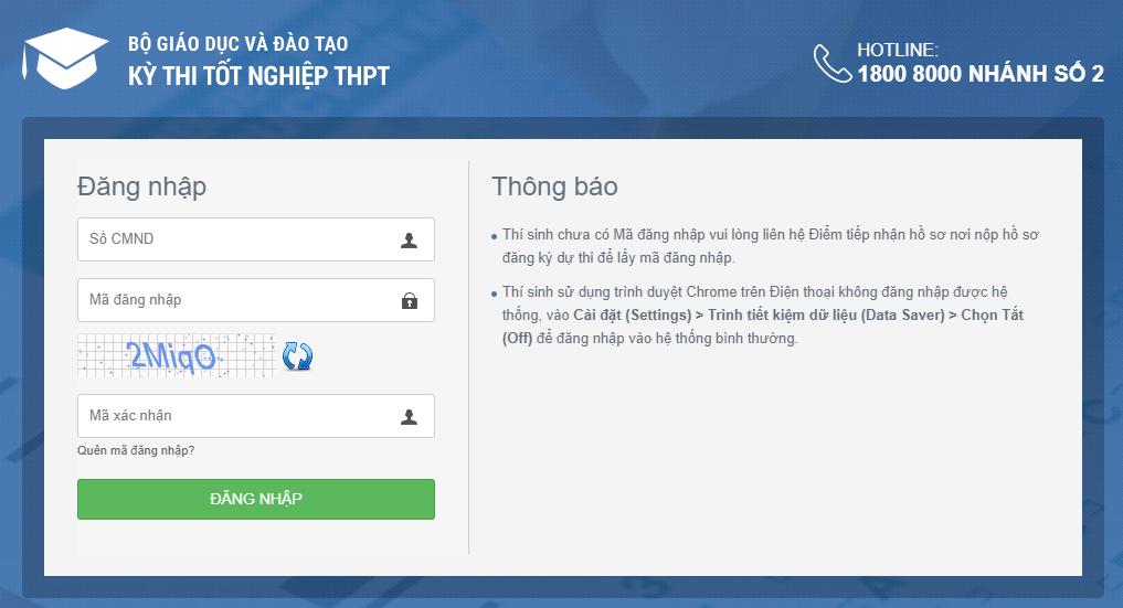 Tra cứu điểm thi THPT 2020 tỉnh Quảng Bình nhanh nhất 2