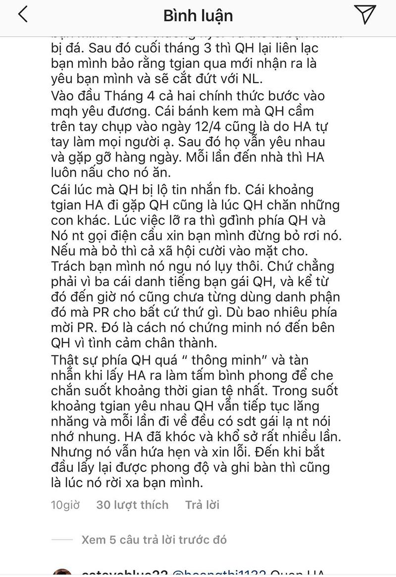 Bạn thân Huỳnh Anh vạch trần bộ mặt thật của Quang Hải: Khi dính phốt thì cầu xin, yêu rồi vẫn nhắn tin với gái lạ? 10