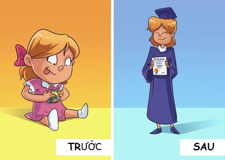 6 bức tranh minh họa: Đừng dính với con như hình với bóng, hãy để trẻ tự giải quyết vấn đề 2