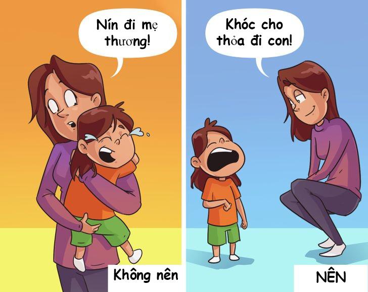 6 bức tranh minh họa: Đừng dính với con như hình với bóng, hãy để trẻ tự giải quyết vấn đề 3