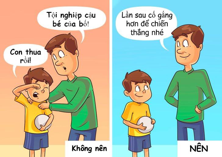 6 bức tranh minh họa: Đừng dính với con như hình với bóng, hãy để trẻ tự giải quyết vấn đề 5