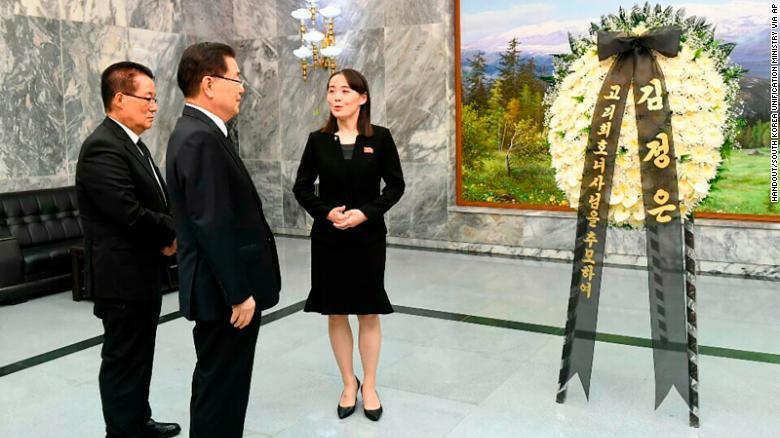 Em gái Kim Jong-un thay anh đi viếng cựu Đệ nhất phu nhân Hàn Quốc 1