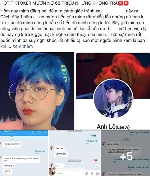 Hot girl Tiktok Lê Anh bị tố giả ung thư, quỵt tiền 1