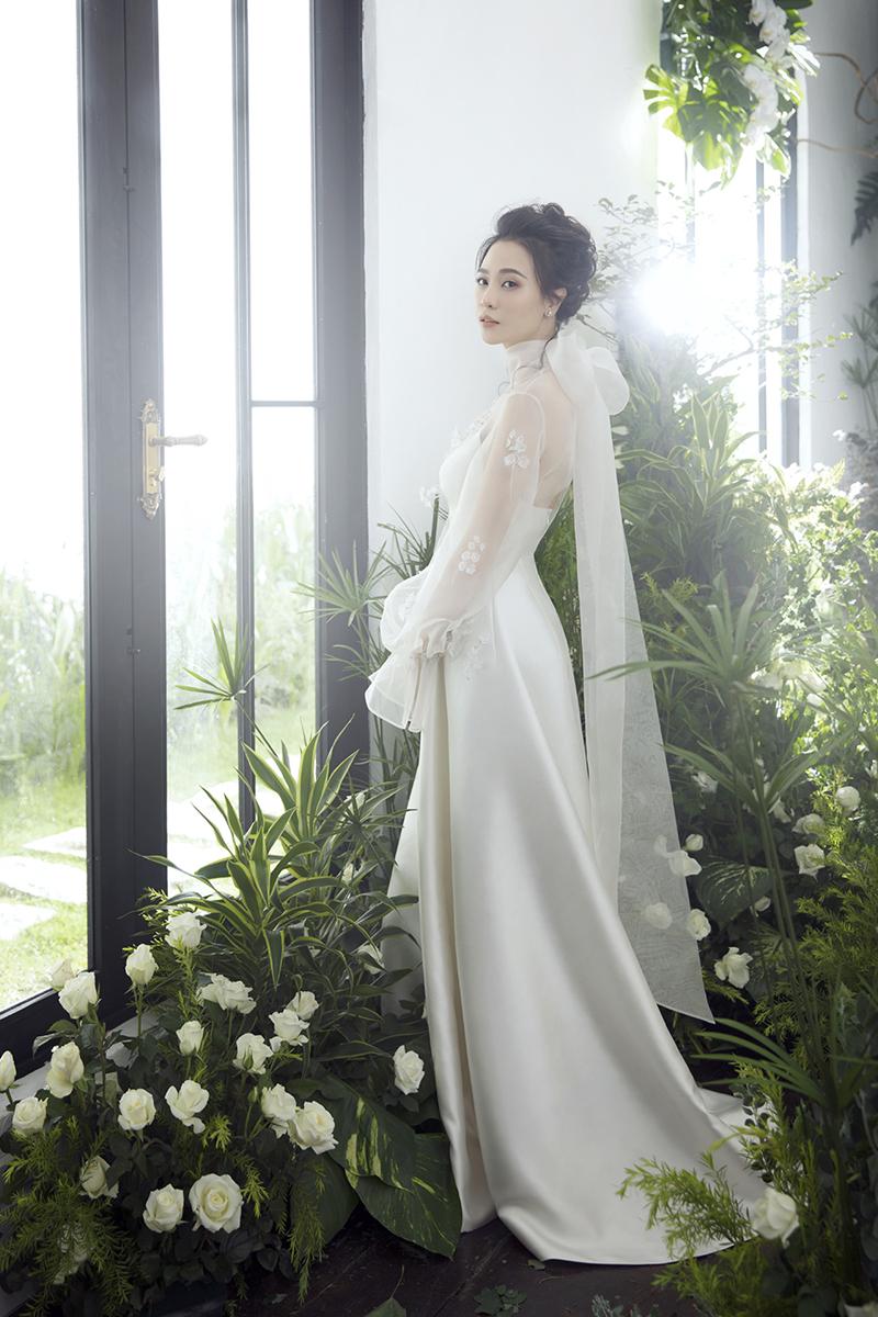 Đàm Thu Trang công bố chiếc váy cưới chính thức đẹp đến nín thở 4