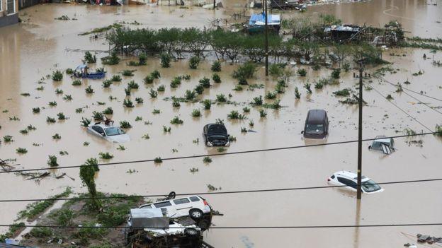 Hình ảnh siêu bão Lekima bổ bộ Trung Quốc gây thiệt hại nặng nề 2