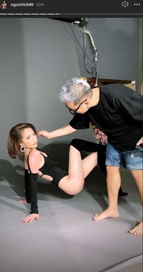 Ngọc Trinh lại tung clip hậu trường 'đốt mắt', Chung Thanh Phong mới gây chú ý 2