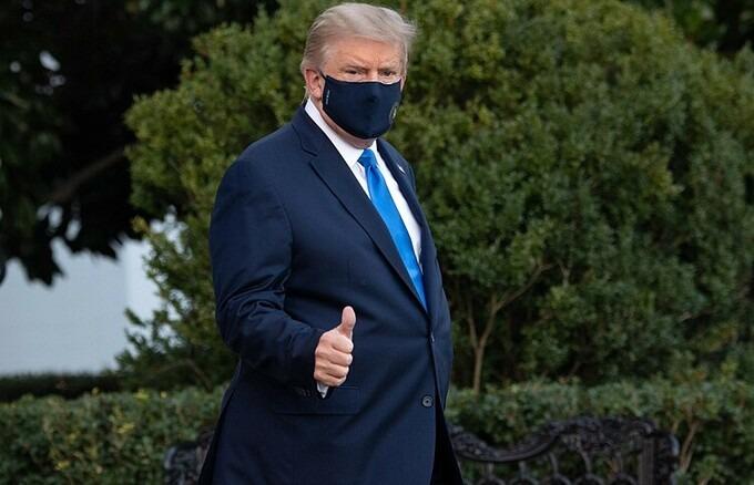 Rộ tin ông Trump phải thở oxy trước khi đến bệnh viện 1