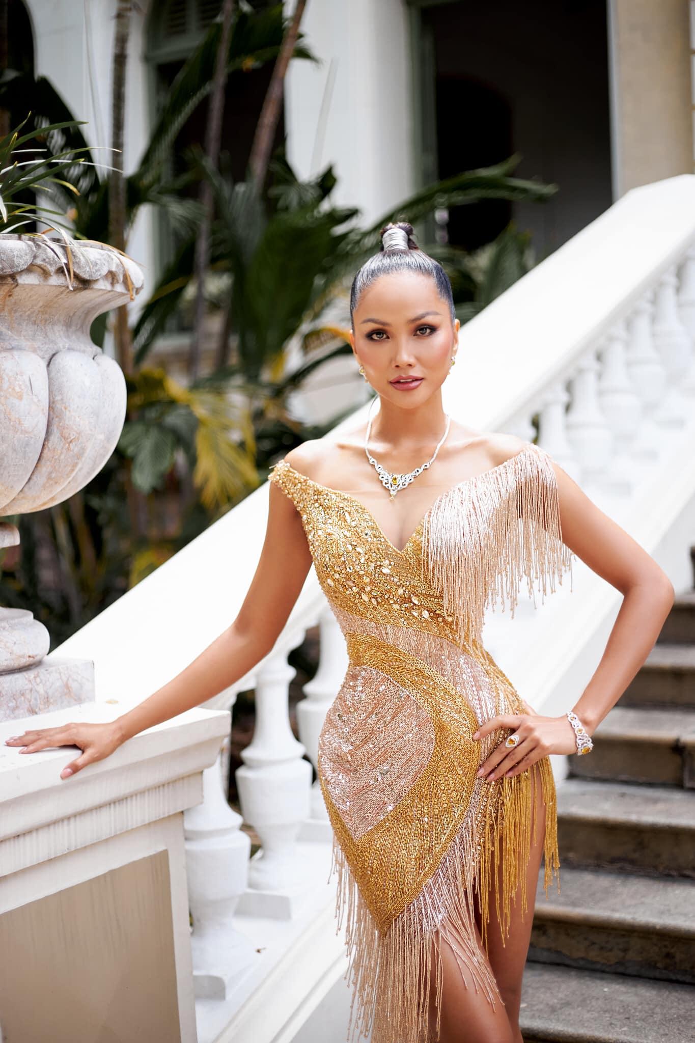 H'Hen Niê, Lương Thùy Linh và dàn sao Việt so kè nhan sắc đẹp 'bất bại' trong trang phục dạ hội 4