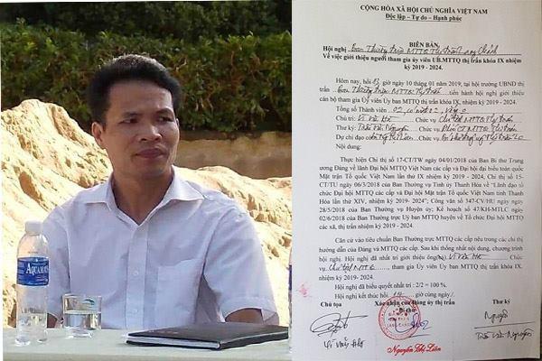 Chửi bới lãnh đạo, bắt dân chui háng vẫn được bầu làm Chủ tịch MTTQ 1