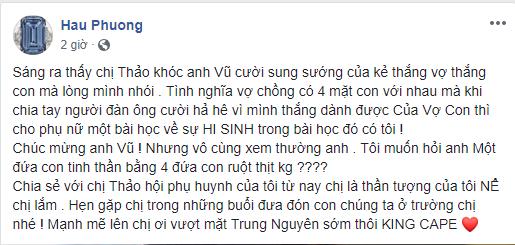 Hoa hậu Phương Lê bênh vực bà Diệp Thảo, mắng ông vua cafe Trung Nguyên là ham của 3