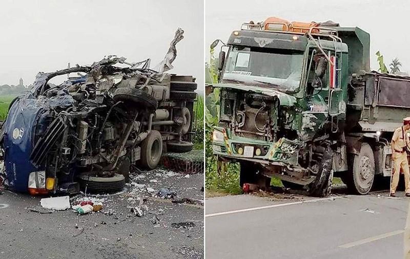 Hà Nam: Xe tải chở gà đấu đầu với xe ben, tài xế tử vong tại chỗ 1
