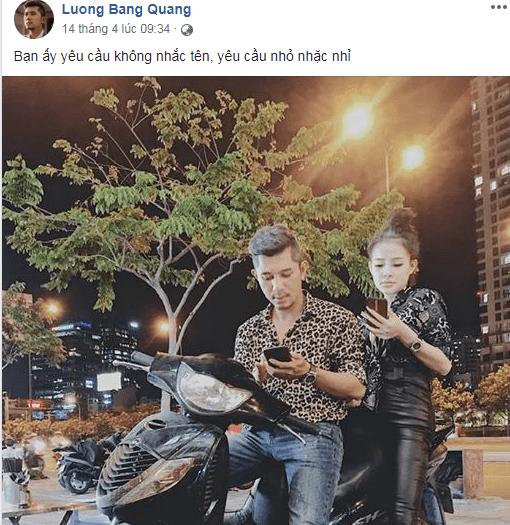 Mới chia tay Ngân 98 được vài ngày, Lương Bằng Quang đã mong nối lại tình xưa 4