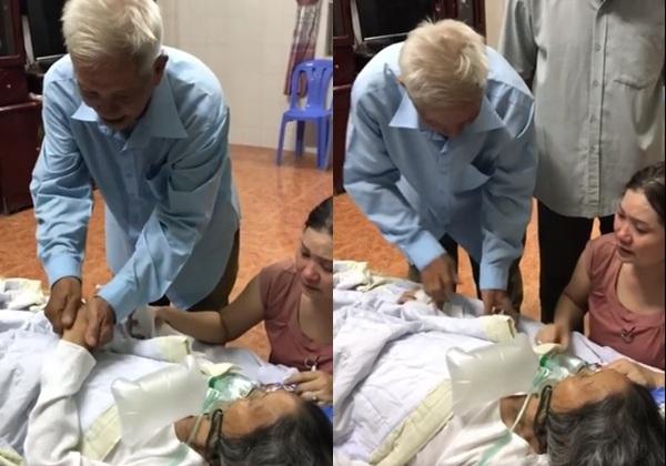 Rơi nước mắt khi cụ ông nắm tay hôn má vợ nói 'hẹn kiếp sau' trong phút sinh ly tử biệt 3