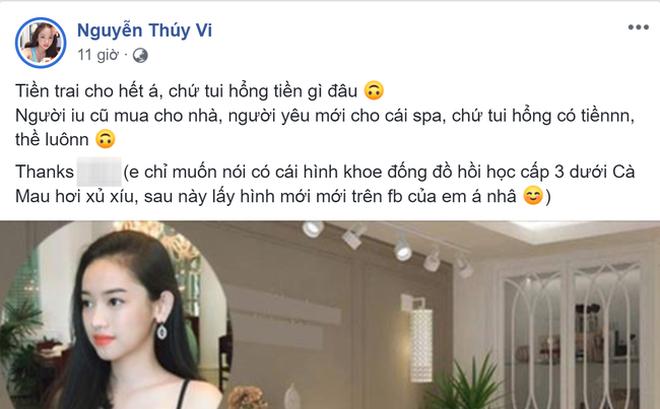 Thúy Vi - bồ một thời của Phan Thành bất ngờ khoe sự giàu có, nào ngờ nhận 'rổ gạch đá' 2