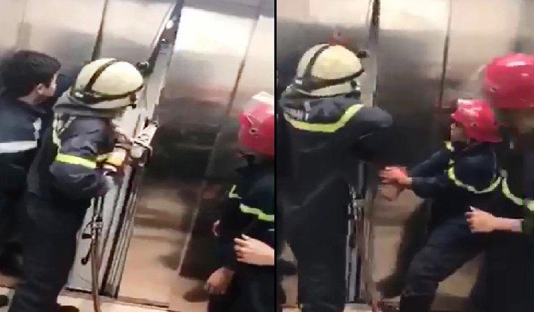 Cảnh sát phá cửa thang máy cứu sống 21 người mắc kẹt lúc nửa đêm 1